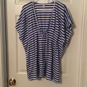 Old Navy Striped Bathing Suit Cover Up Top